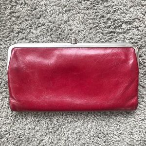 Red leather Hobo Wallet